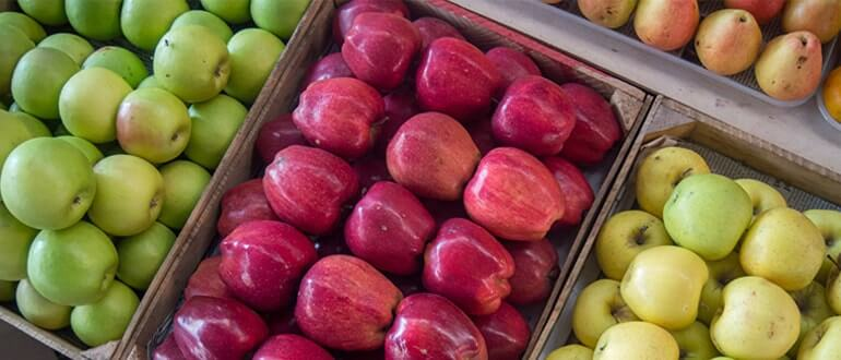 может ли быть запор от яблок